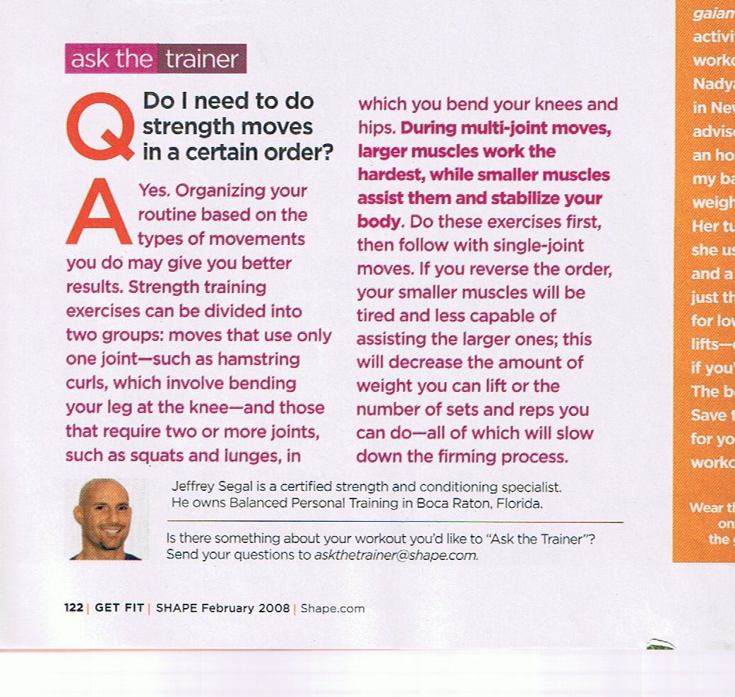 Media relating to personal training with jeffrey a segal click on the magazine cover below to view the article within that jeff contributed to xflitez Images